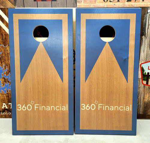 Your Business Design #26, custom with your business logo - Regulation size cornhole boards.
