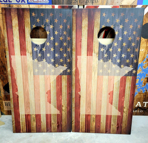 Flag with your state, Cornhole Boards  -Regulation size cornhole boards.