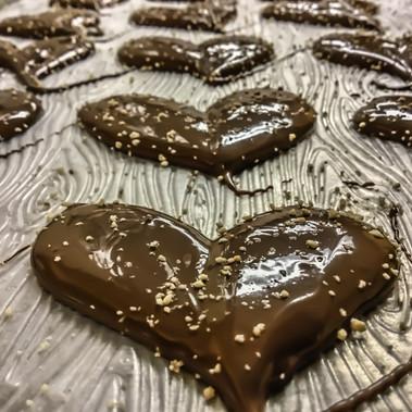 Honey Milk Chocolate Heart