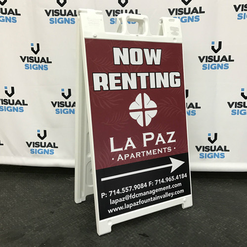 Fountain Valley Apartments: Heavy Duty 24x36 A-Frame Sandwich Board Sign