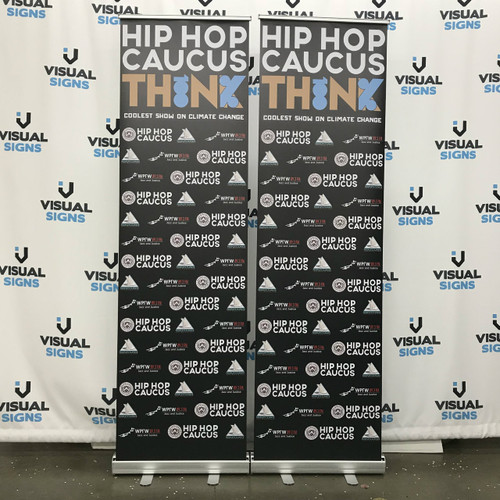 Silver 150x200cm Media Wall Backdrop Pull Up banners with Printed Graphics