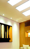 2 foot by 2 foot flat panel ceiling light,  perfect for offices and schools.
