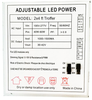 LED 2' by 4' Adjustable Troffer, 40 to 60 Watts, 5,200 to 7,800 lumen, 3000K to 5000K