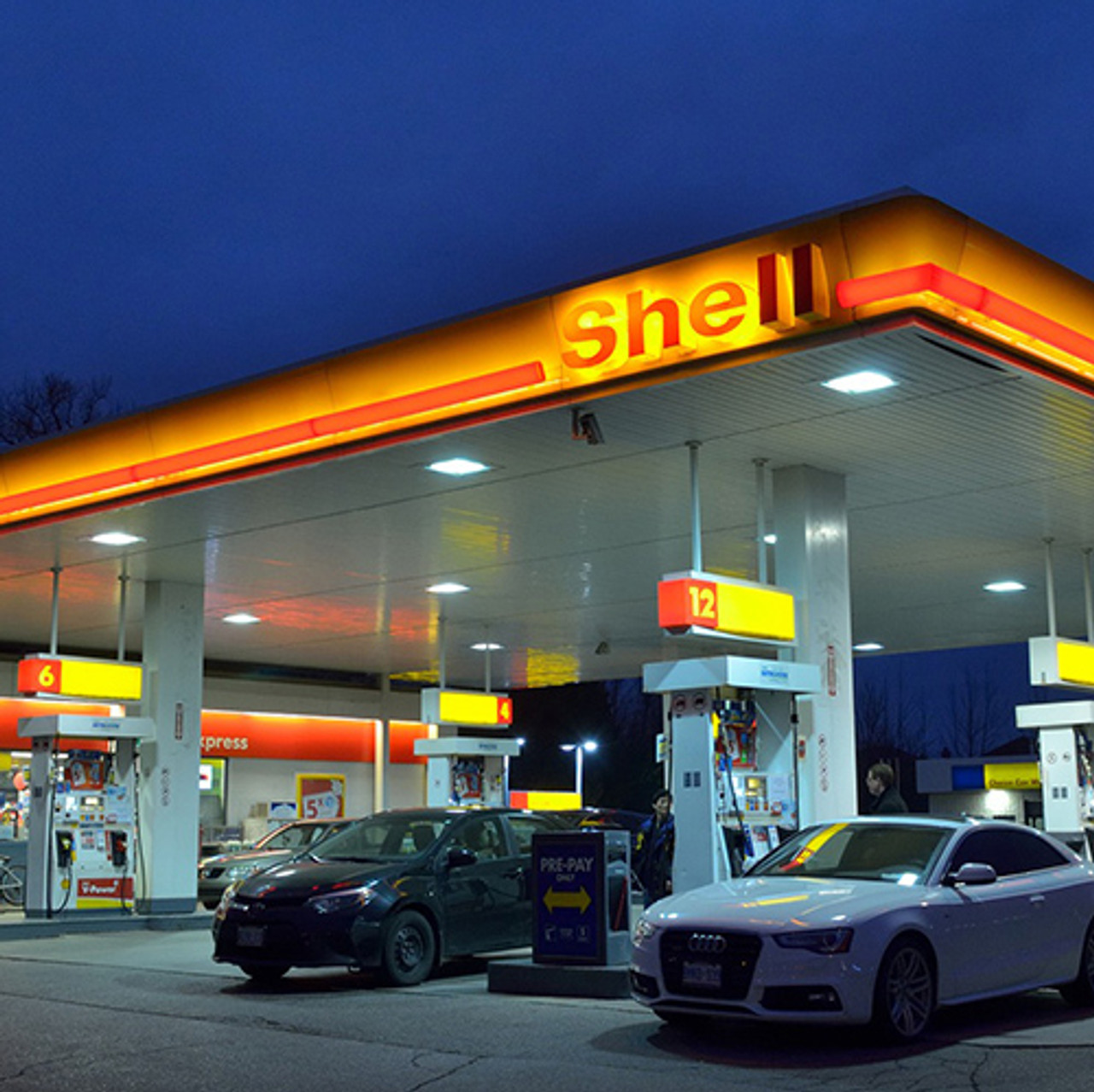 LED Canopy Light, perfect for parking garages and gas stations.