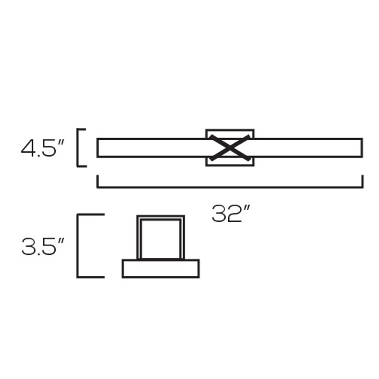 Chrome Vanity Light, V432 – 32W - 5000K