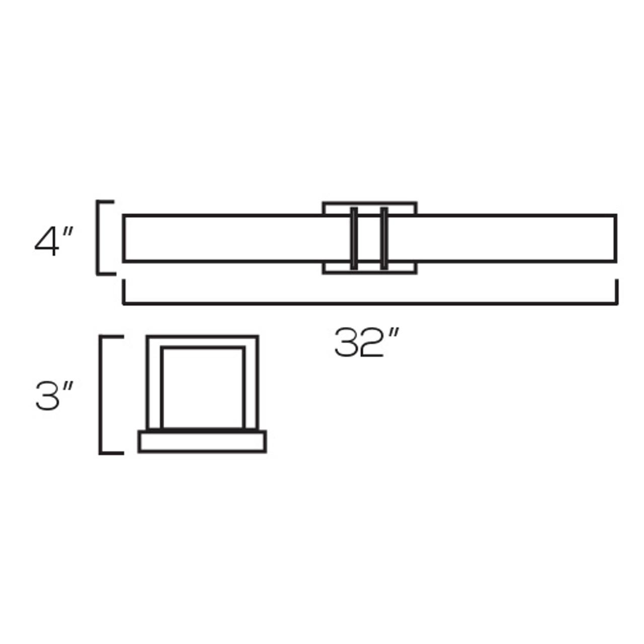 Chrome Vanity Light, V32 – 39W - 3000K