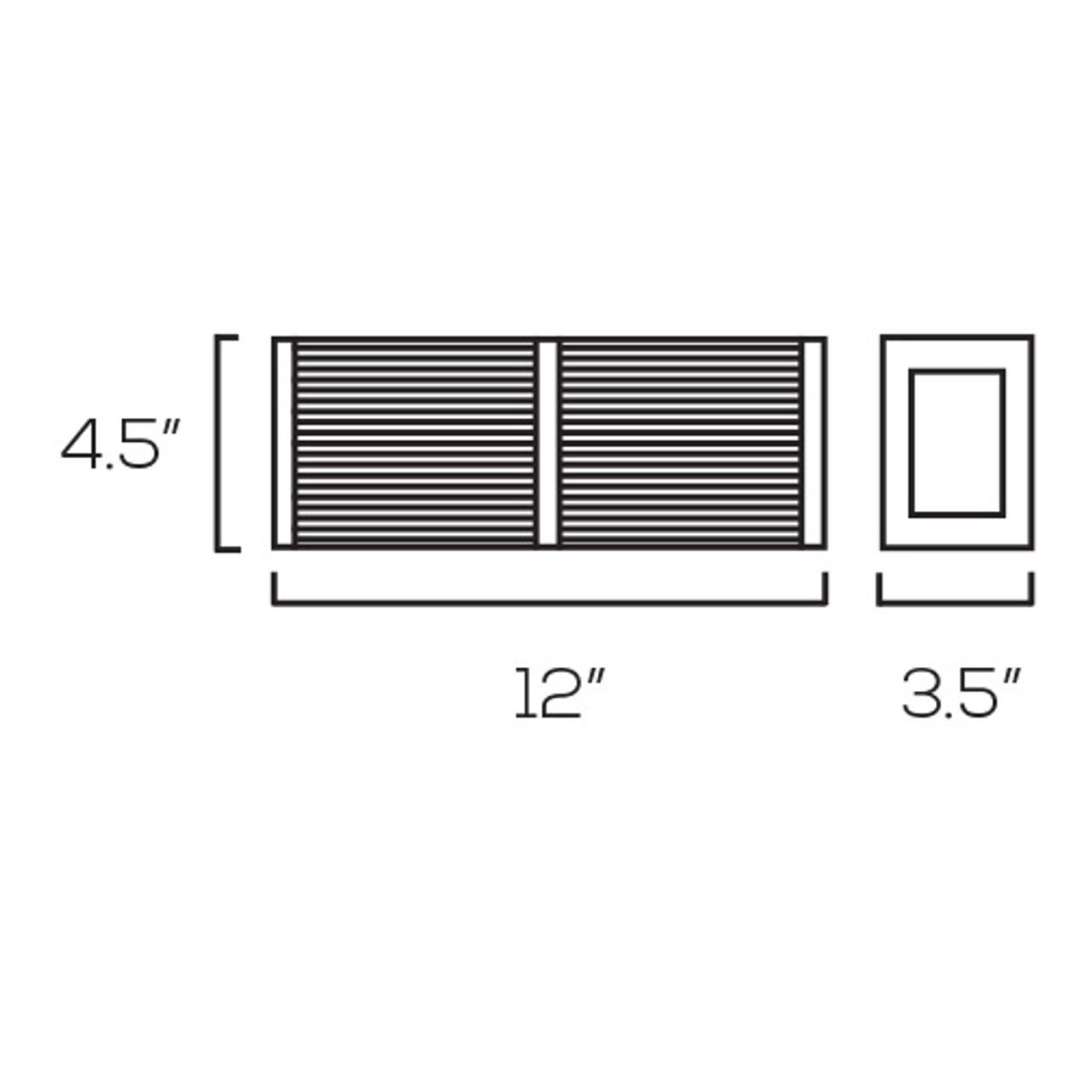 Chrome Vanity Light, V712 – 14W - 3000K