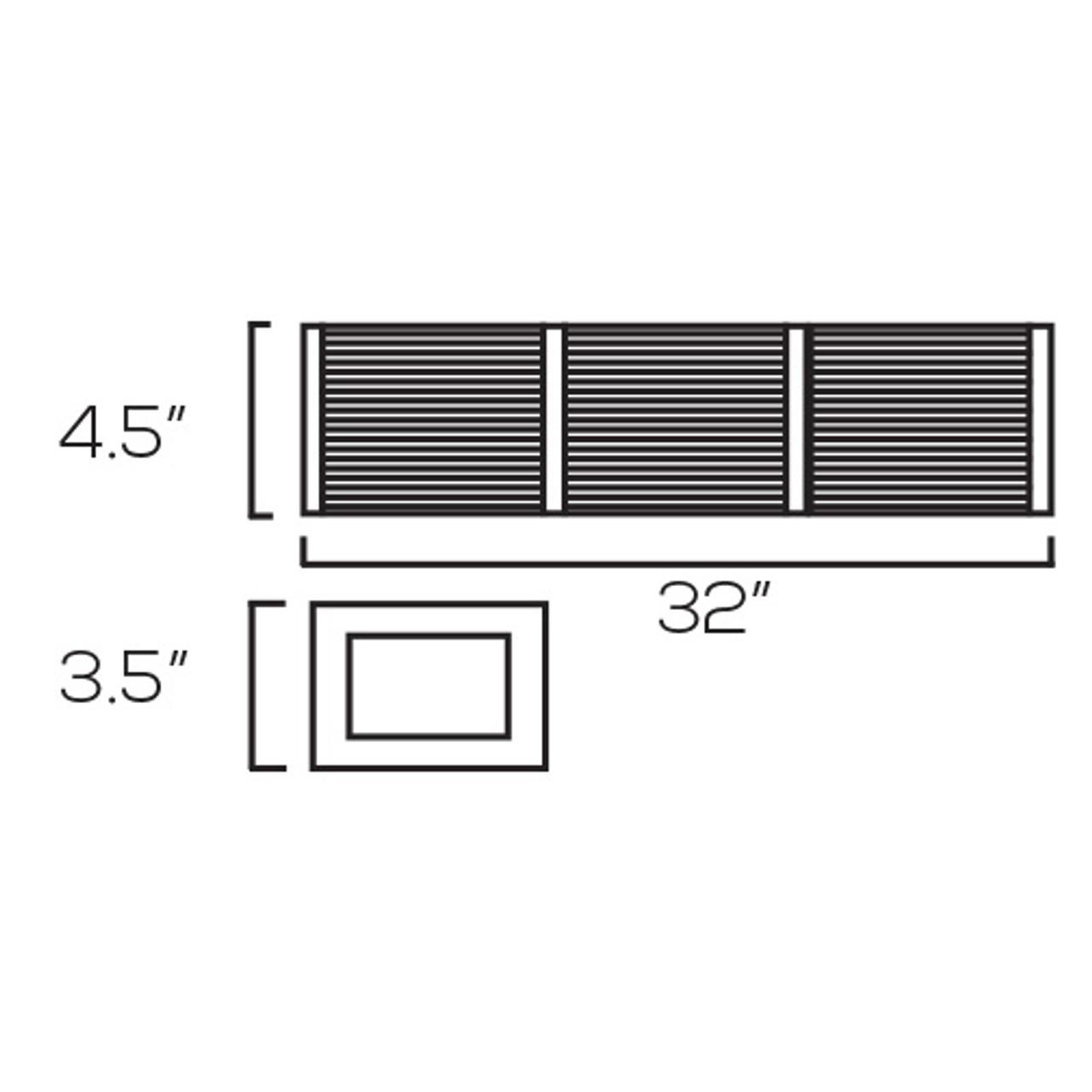 Chrome Vanity Light, V736 – 41W - 3000K
