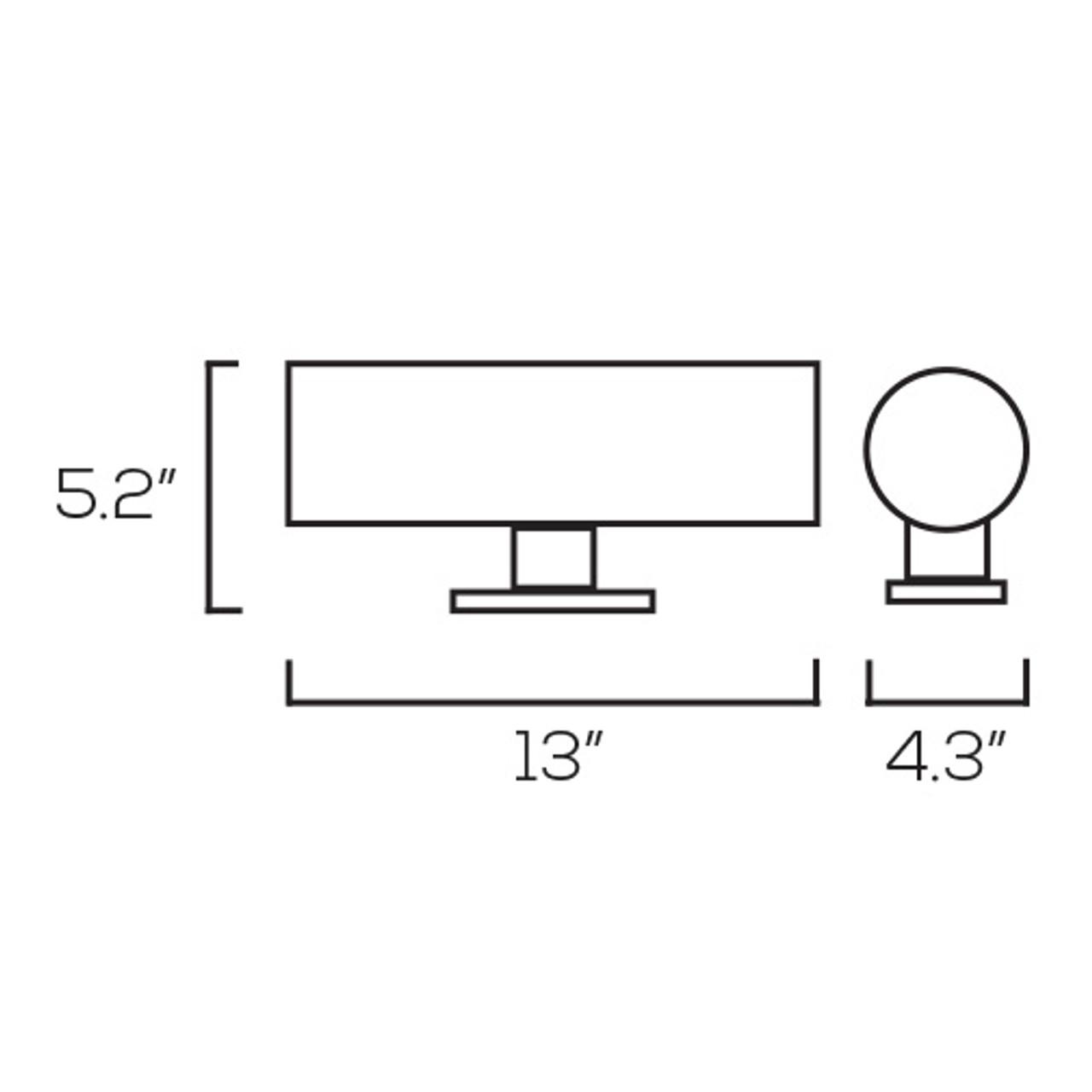 LED Wall Lamp UDW3 – 2 x E26 - Silver