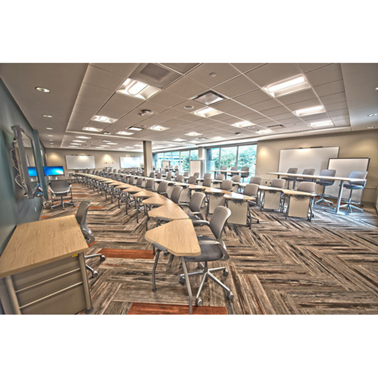 LED 2' by 4' Adjustable Troffer, perfect for offices and schools.