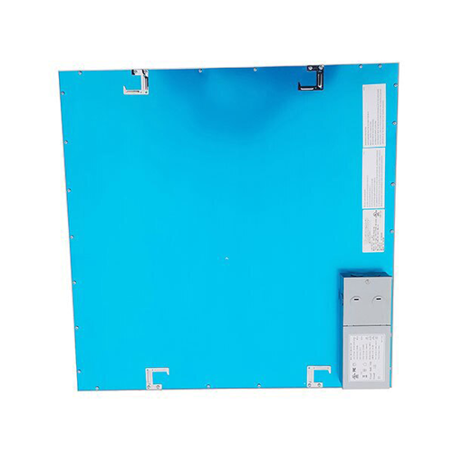 2 foot by 2 foot flat panel ceiling light,  50 Watt, 5,200 Lumens, 5000K.