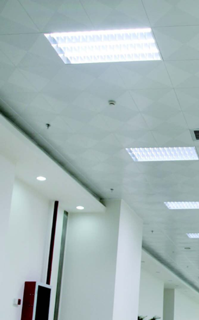 2 foot by 2 foot LED Parabolic Troffer, perfect for schools and offices.