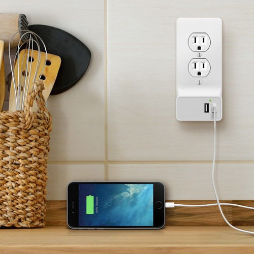 Wall Plate USB Charger - 2 USB Ports