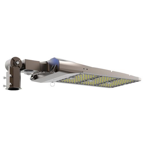 500W LED Slim Shoebox Light  - 1500W HPS/MH Equivalent - Slip Fitter