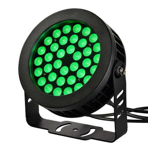 RGB Flood Light with Remote and Yoke Mount, 36 Watt, 2880 Lumens