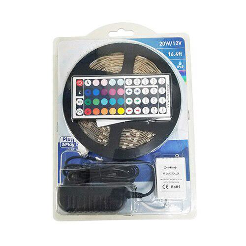 LED Strip Light Kit, 20 Watt, RGB