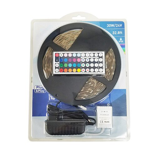 LED Strip Light Kit, 30 Watt, RGB