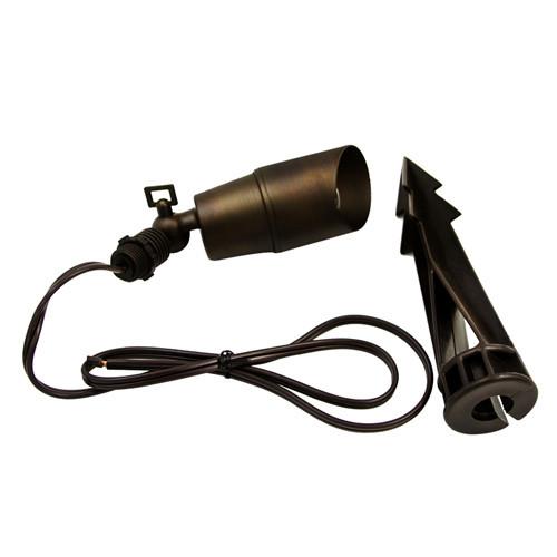 Brass Spot Light, Short - MR16
