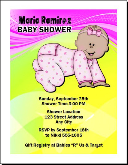 Bebe Muchacha Pink Baby Shower Invitation