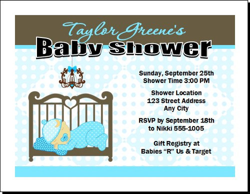 Blue Nursery Baby Shower Invitation