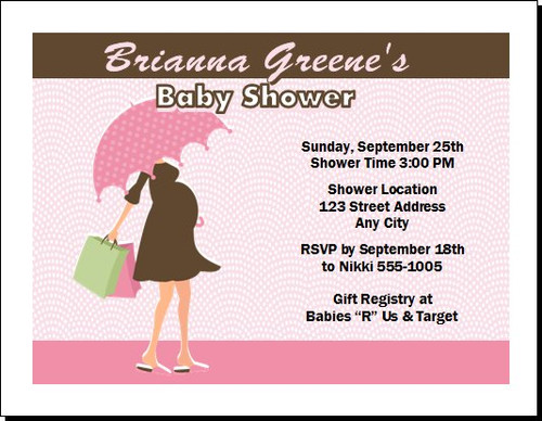 Pink Chocolate Baby Shower Invitation