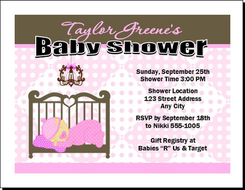 Pink Nursery Baby Shower Invitation