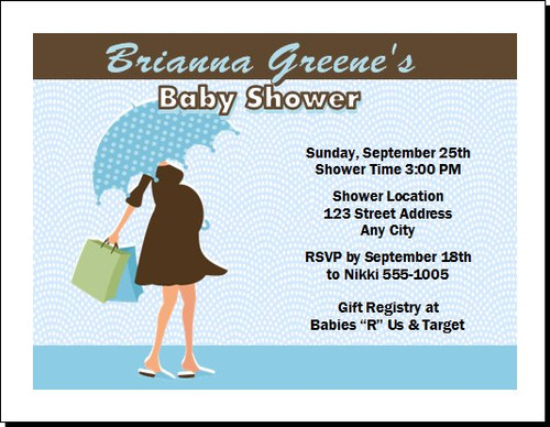 Blue Chocolate Baby Shower Invitation