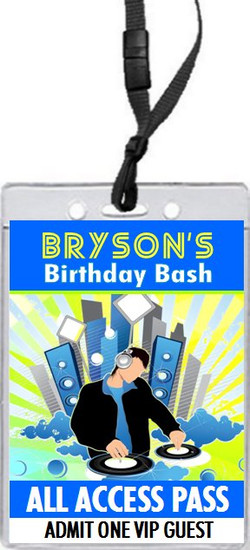 At Da Club Birthday Party VIP Pass Invitation