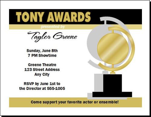 Tony Awards Party Invitation