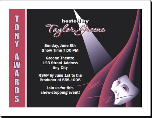 Tony Awards Party Theatre Star Invitation