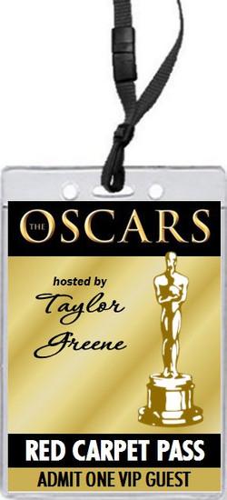 oscar awards silver party vip pass invitation