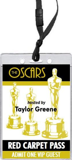 Oscar Awards Party VIP Pass Invitation