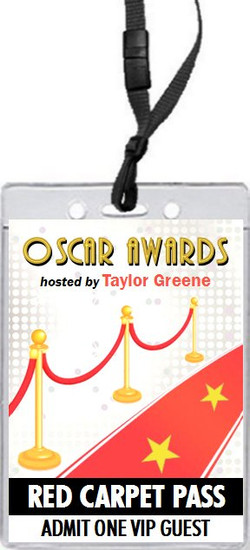 Red Carpet Oscar Party VIP Pass Invitation