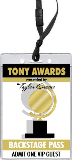 Tony Awards Party VIP Pass Invitation
