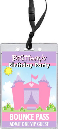 Bounce House Castle Birthday Party VIP Pass Invitation