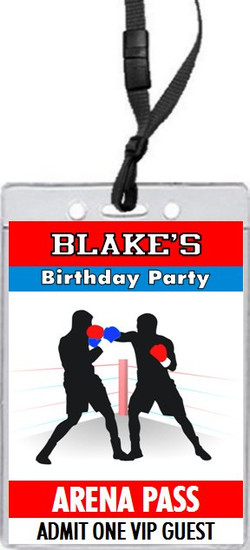 Boxing Birthday Party VIP Pass Invitation