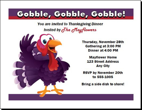 Greetings Thanksgiving Party Invitation
