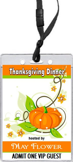 Colors of Fall Thanksgiving Dinner VIP Pass Invitation Front