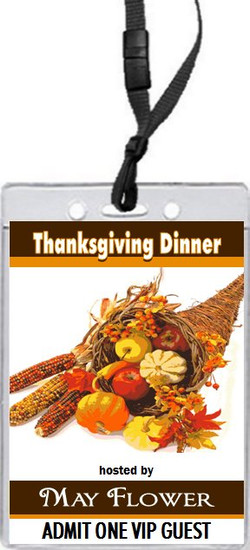 Cornucopia Thanksgiving Dinner VIP Pass Invitation Front