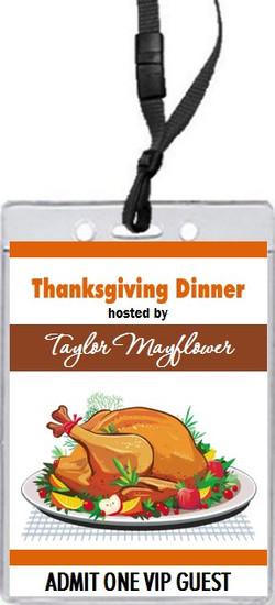 Thanksgiving Dinner VIP Pass Invitation Front