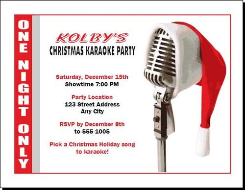 Christmas Karaoke Party Invitation