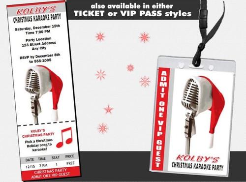 Christmas Karaoke Party Invitation Set Of 12
