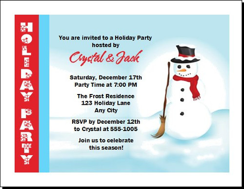 Frosty Holiday Party Invitation