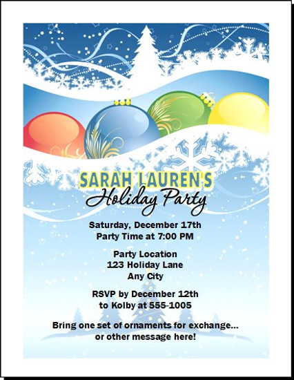 Holiday Scene Party Invitation