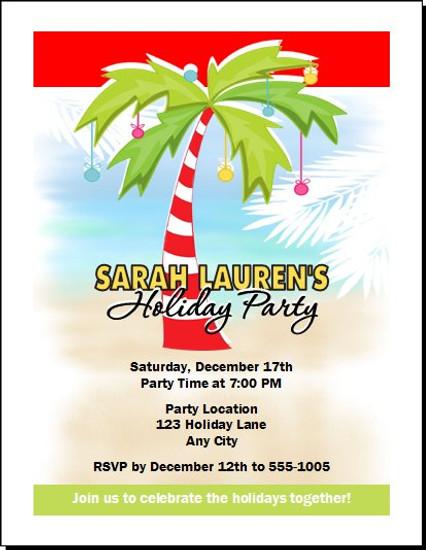 Palm Tree Holiday Party Invitation