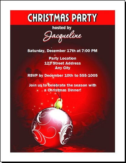 Regal Red Christmas Party Invitation