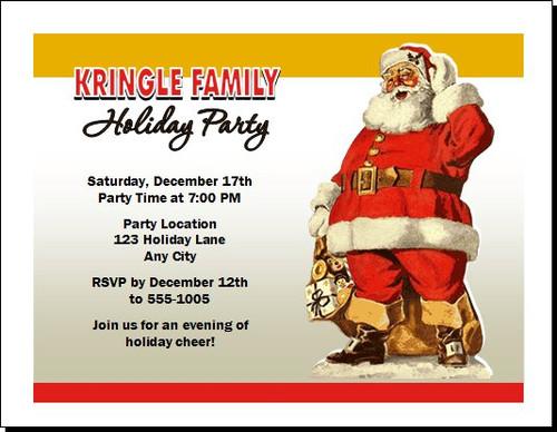 Santa Classic Christmas Party Invitation