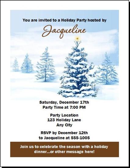 Long Winter's Nap Holiday Party Invitation