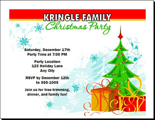 Tree Trimming Christmas Party Invitation
