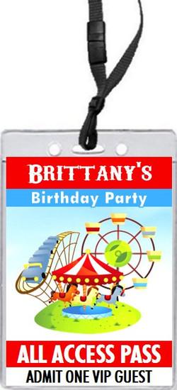Carnival Birthday Party VIP Pass Invitation